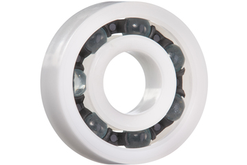 xiros® radial ball bearings, xirodur B180, glass balls, cage made of PA, mm